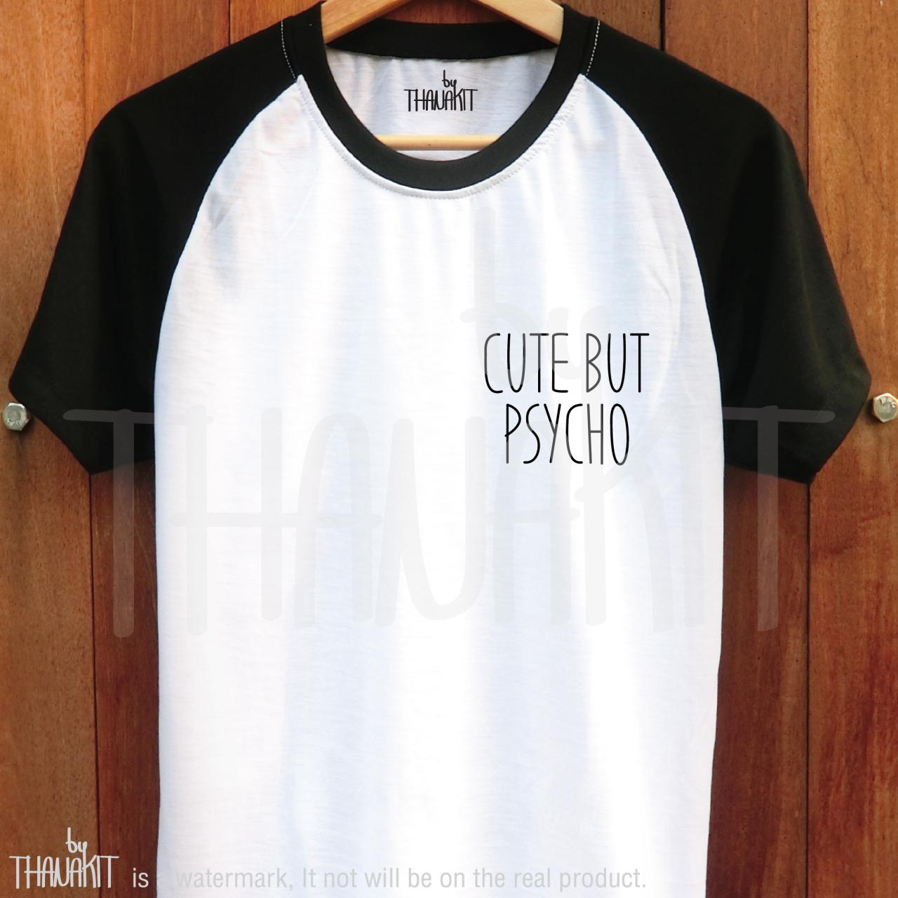 cute but psycho t shirt couple tumblr tshirt white t